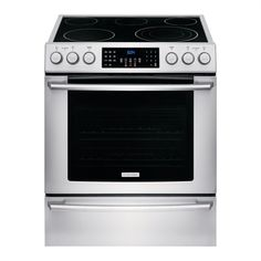 Electrolux Smooth Surface Freestanding ft Self-Cleaning Convection Electric Range (Stainless Steel) (Common: Actual: Ranger, Slide In Range, Frigidaire, Stainless Steel Oven, Range Cooker, Glass Cooktop, Oven Racks, Heating Element, Cleaning