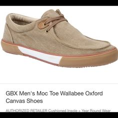 GBX Men's Moc Toe Wallabee Oxford Canvas Shoes GBX Men's Moc Toe Wallabee Oxford Canvas Shoes Wallabee Oxford  Shoes Flats & Loafers