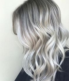 Platinum ash white blonde balayage. when i see all these blonde balayage hair colors from fall to winter it always makes me jealous i wish i could do something like that I absolutely love this blonde balayage hair color so pretty! Perfect!!!!!