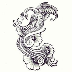 Henna peacock tattoo idea