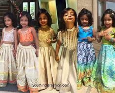 manchu kids wedding fashion 600x486 Golden Lehnga, Wedding With Kids, Western Dresses, Half Saree, Wedding Styles, Kids Fashion, Sequin Skirt, That Look, Sari