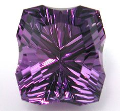 Unique fancy cut 7.76ct amethyst designed & polished by award winning lapidary Chris Wolfsberg. Perfect to set into a custom designed piece of jewelry!