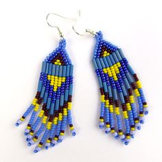 Colorful Native American Style Long Seed Bead by Anabel27shop, $15.00