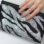 DIY Glitter Zebra Clutch by Chic Steals