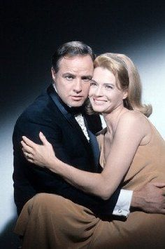 Marlon Brando & Angie Dickinson - promo shot for The Chase (1966)
