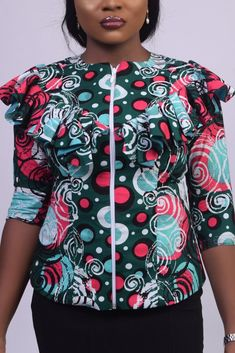 ankara peplum blouse and skirt styles Ankara Peplum Tops, Ankara Skirt And Blouse, Peplum Blouse, Ankara Long Gown Styles, Ankara Styles, African Fashion, Fashion Women, Blouse Styles, Skirt Fashion