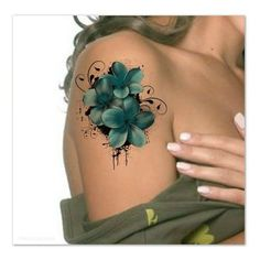 Temporary Tattoo Waterproof Flower Ultra Thin Realistic Fake Tattoos ❤ liked on Polyvore featuring accessories and body art