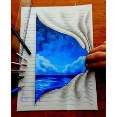 lines notepad drawings joao carvalho 7 3d Drawings, Amazing Drawings, Amazing Art, Optical Illusions Drawings, Teenage Drawings, Art Drawings Beautiful, Horse Drawings, Animal Drawings, 3d Sketch