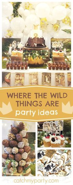 Check out this fun 'Where the Wild Things Are' birthday party. The mix of sugar cookies look delicious!! See more party ideas and share yours at CatchMyParty.com
