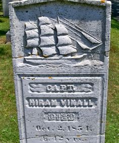 """One of many """"sailor lost at sea"""" memorial markers in the Camden Cemetery (Camden, Maine)"""