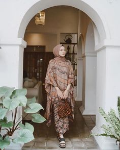 @helminursifah Model Kebaya Brokat Modern, Kebaya Modern Hijab, Modern Hijab Fashion, Batik Fashion, Kaftan Batik, Batik Kebaya, Kebaya Dress, Kebaya Hijab, Dress Pesta