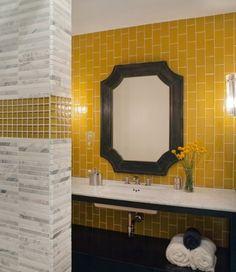 37 idées de salle de bains jaune
