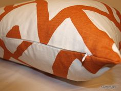 BOTH SIDES ONE Schumacher Zimba Orange Pillow by SouthernShades