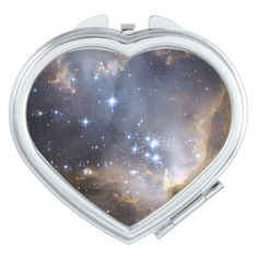 A Galaxy compact mirror from Zazzle! Bright Stars, Compact Mirror, Everyday Objects, Makeup Tools, Gifts For Women, Watches, Space, Jewelry, Glitter Stars
