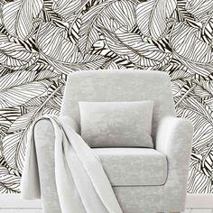 CaraSaven---Black-White-Leaves-Pattern---Interior