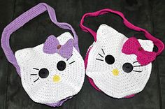 Ravelry: Round Kitty Face Bag pattern by 5packs Crochet