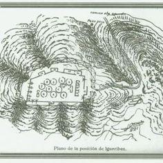 1. Campamento de Annual. 2. El comandante Julio Benítez 3. Planos de posición de Igueriben.