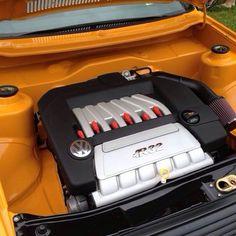 VW Volkswagen MK1 A1 Rabbit Caddy Jetta shaved engine bay r32 swap