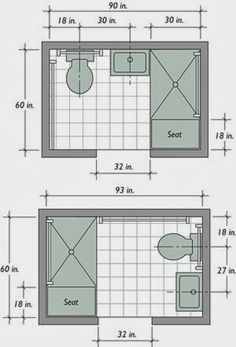 Using available space to build a basement bathroom will cut down on expenses, Small master bathroom ideas, Basement bathroom and Small bathroom ideas. bathroom ideas layout Trendy Basement Bathroom Ideas for Small Space Small Bathroom Floor Plans, Small Bathroom Layout, Bathroom Design Layout, Layout Design, Plan Design, Narrow Bathroom, Bathroom Layout Plans, Design Ideas, Small Bathroom Dimensions