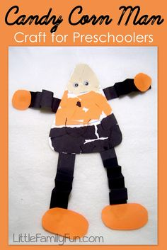 Halloween craft for kids and preschoolers. A little something Mia and I will do together.