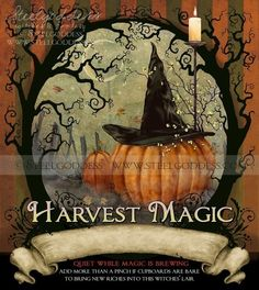 HARVEST MAGIC Apothecary Label by steelgoddess on Etsy, $1.59