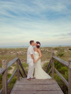 Beautiful Beach Wedding Photo