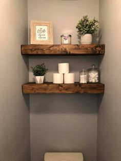 shelf arrangement idea behind toilet