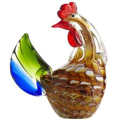 Art Glass Rooster for my friend who likes roosters :)