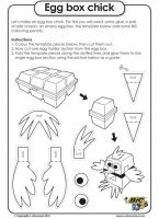 Egg box chick - Easter Worksheet