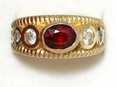 Genuine 14K gold spessartite garnet diamond w/ by 24k18k14k10kgold, $902.00