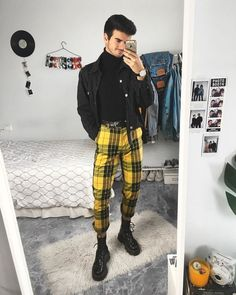 99 Fabulous Winter Outfits Ideas To Stand Out From The Crowd - Warm Outfits, Grunge Outfits, Trendy Outfits, Winter Outfits, Cool Outfits, Fashion Outfits, Teenage Boy Fashion, Gay Outfit, Pants Outfit