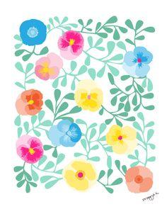 Flower art -