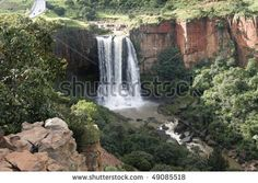 stock photo : The Elands River Waterfall at Waterval Boven in Mpumalanga, South Africa day 5 June 2013