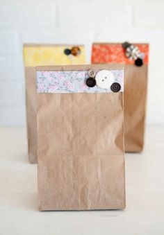 If your gift is an odd shape, decorate a paper bag as giftwrap.