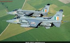 Pair of Indian Air Force Sepecat Jaguar ground attack aircraft. Military Jets, Military Weapons, Military Aircraft, Air Force Aircraft, Fighter Aircraft, Air Fighter, Fighter Jets, Fighter Pilot, Jaguar