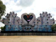 Afbeelding zwanenpodium Dreamfields #Lathum #Rhederlaag #Zevenaar. Zaterdag 21 juni 2014.