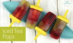 Layered Iced Tea Pops Serves:6 Make your own ice pops that are made with the goodness of tea! Ingredients 4 cups strongly brewed tea of your choice (1) 3 cups strongly brewed tea of your choice (2) 6 tbsp honey or simple syrup Instructions Dissolve 3 tbsp honey/simple syrup into …