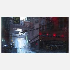 Japan Rain Wall Mural, $99, now featured on Fab.
