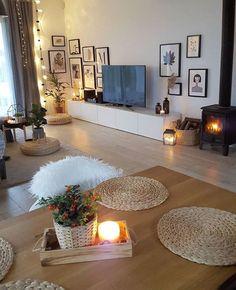 30 affordable apartment living room design ideas on a budget 00028 Home Living Room, Apartment Living, Living Room Designs, Living Room Decor, Bedroom Decor, Cozy Apartment, Decor Room, Apartment Ideas, Cozy House