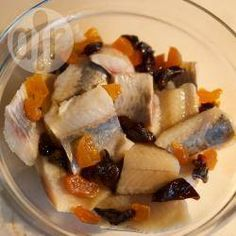 Śledź na słodko @ allrecipes.pl Allrecipes, Fruit Salad, Chicken, Meat, Food, Fruit Salads, Eten, Meals, Cubs