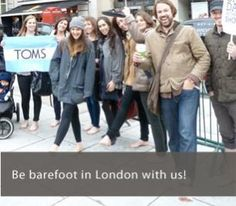 Today is TOM's Day without shoes.  Find out it's #hardwithout shoes by taking yours off for one day!