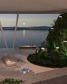 Architecture Design, Organic Architecture, Futuristic Architecture, Minimalist Architecture, Architecture Student, Dream Home Design, My Dream Home, House Design, Exterior Design