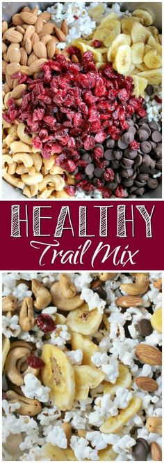 Healthy Trail Mix The Perfect OnTheGo Snack! is part of Snack mix recipes - This Healthy Trail Mix is the perfect onthego snack to keep your appetite at bay My kids even love it as an afternoon snack! Trail Mix Recipes, Snack Mix Recipes, Lunch Recipes, Paleo Trail Mix, Healthy Protein Snacks, Healthy Drinks, Healthy Snack Mixes, Healthy Munchies, Healthy Appetizers