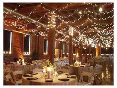 Iluminación de boda con focos navideños decoración para boda /