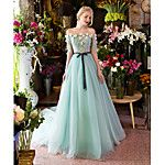 TS Couture® Formal Evening Dress A-line Strapless Floor-length Satin / Tulle with Beading 2017 - $169.99