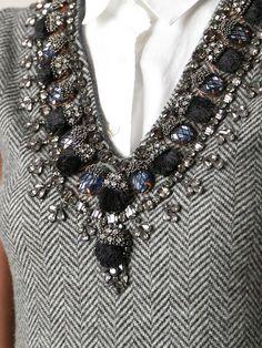Dsquared2 Украшенные Платье в Gray (серый) | Lyst