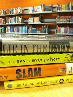 Book spine poetry - National Poetry Month