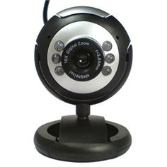 XGadget Twist And Tilt / USB 2.0 / 20MP Max / Adjustable 6 LED Night Vision and Clip / Built In Microphone / Plug And Play / Webcam
