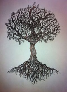 36 Ideas tattoo tree roots tatoo for 2019 Celtic Tree Tattoos, Tree Roots Tattoo, Tree Tattoo Men, Tree Tattoo Designs, Viking Tattoos, Nature Tattoos, Body Art Tattoos, Tatoos, Arrow Tattoos