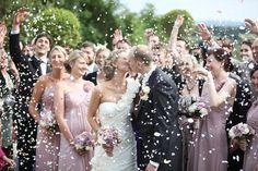 Love this wedding confetti shot!!! Gemma & Rob's Real Wedding by JK Photography